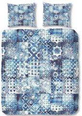Blauwe Zouzou luxe katoen satijn dekbedovertrek 2115 ernesto BL 240 x 200/220