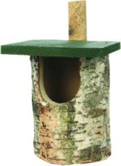 Wildbird Nestkast Berk Halfholenbroeders - Broeden - 17.5x22.5x30 cm Grijs Groen