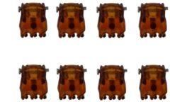 Bruine Zenner Mini sierklemmen Havana Mat 8 stuks