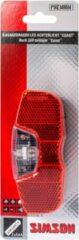 Zwarte Simson Batterij Bagagedrager achterlicht 'Coast' 1LED on/off