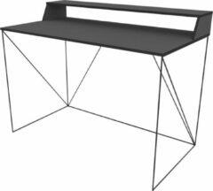 Antraciet-grijze Maison Woonstore Maison's Bureau – Tafel – Laptoptafel – Computertafel – Bureautafel – Industrieel – Zwart – 63x120x89cm