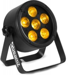 Zwarte 2e keus - BeamZ BAC302 Aluminium LED Par met 6x 12W 6-in-1 LEDs