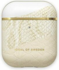 Gouden IDeal of Sweden AirPods Case PU voor 1st & 2nd Generation Cream Gold Snake