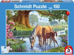 Schmidt Paarden bij de stroom, 150 stukjes Puzzel