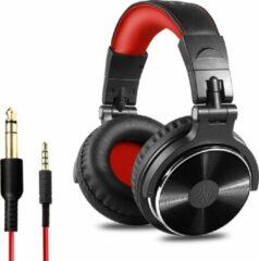 OneOdio Studio Dj Headphone Pro 10 - Over-ear Koptelefoon - Hoofdtelefoon - DJ set - Kop Telefoon - Professionele Koptelefoon - Muziek Studio - DJ Set Mengpaneel - DJ Headphones (Rood)