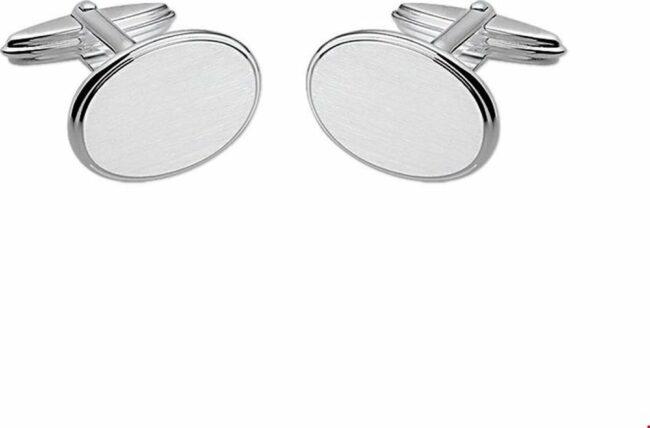 Afbeelding van TFT Zilver Manchetknopen Poli/mat Zilver Gerhodineerd Mat Glanzend 14,5 mm x 19,0 mm