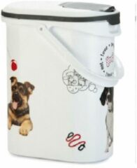 Curver - Voedselcontainer Hond 29 x 19 x 35 cm - Wit - 10 L- 4kg