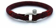 MR. JACOB Stan roodzwarte touw armband