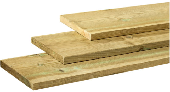 Afbeelding van Woodvision Dekdeel/vlonderplank | Grenen | 28 x 195 mm | 400 cm