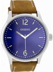 OOZOO Timepieces Horloge Bruin/Blauw   C9046