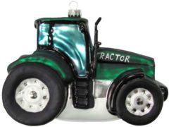 Weihnachtshänger 'Traktor' Krebs Glas Lauscha Grün