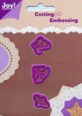 Paarse Joy Cutting & Embossing Stencil Hoekjes 3 st