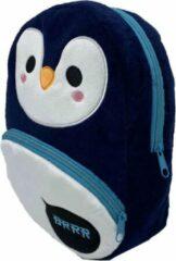 Blauwe Puckator – kinder rugzak – Kleine peuter tas – Kleuter schooltas – Kindervriendelijk – Meerdere vakken – Verstelbaar – Pinguin
