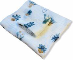Blauwe Art Textiel - 2 Hydrofiele Doeken, XL & M - Cactus
