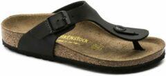 Zwarte Develab Birkenstock Gizeh Kinderen Slippers Smal fit - Black - Maat 33