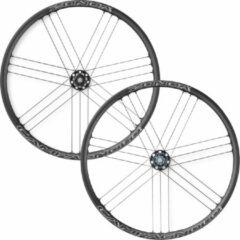 Zwarte Campagnolo Zonda racefietswielset (voor schijfremmen, steekas) - Wielsets