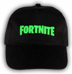 """Merkloos / Sans marque Zwarte Pet met Groen """" Fortnite """" Logo"""