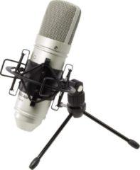 Zilveren Tascam TM-80 – Kondensatormikrofon Microfoon voor studio's