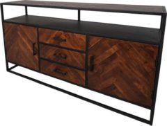 Naturelkleurige HSM Collection Sideboard Saint-Maxime 2-deurs - 160cm - Acaciahout/ijzer