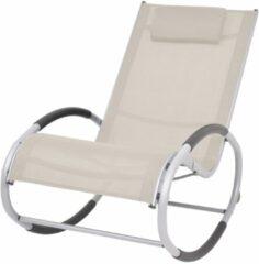Creme witte VidaXL Tuinschommelstoel textileen crème