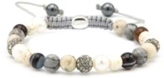Karma Jewelry Karma Armband Spiral Diamonds & Pearls Grey Crystal