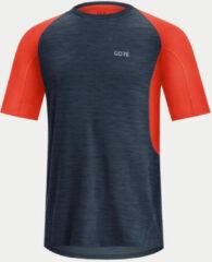 Blauwe Gore R5 Running Shirt - Hardloopshirts (korte mouwen)