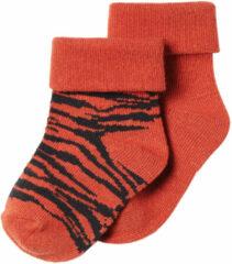 Oranje Noppies Limited to love.. Sokken 2 paar Blanquilo Spicy Ginger - Maat 0-3M