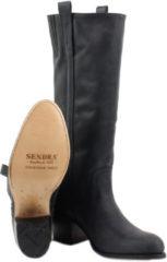 Zwarte Sendra 14821 Flota Negro Lavado Boots lange-laarzen