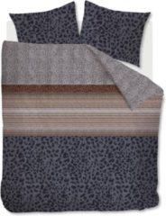 Grijze Beddinghouse Feis Dekbedovertrek - Lits-jumeaux (240x200/220 Cm + 2 Slopen) - Katoen Satijn - Anthracite