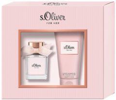 S.Oliver Damendüfte For Her Geschenkset Eau de Toilette Spray 30 ml + Luxury Shower Gel 75 ml 1 Stk.