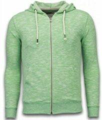 Enos Casual Vest - Melange Zen Fleece - Groen - Maten: XL