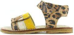 Shoesme luipaard sandaal met geel gouden band (CA20S064-B). Maat 29