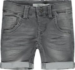 NAME IT X-slim Fit Superstretch Denim Short Heren Grijs