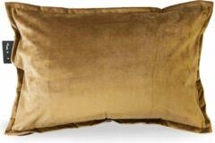 Sit & Heat - Warmtekussen Rectangle Bruin 40 x 60 cm voor binnen en buiten. [kussen van velours/Velvet/Fluweel]