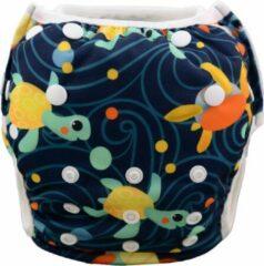 Zwemluier Happy Turtles | 0-3 jaar | one size - in maat verstelbaar | wasbare zwemluier | herbruikbaar | Kidzstore.eu