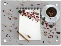 Rode KuijsFotoprint Tuinposter – Koffiebonen met Kruiden - 40x30cm Foto op Tuinposter (wanddecoratie voor buiten en binnen)