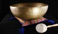 Bruine Yogi & Yogini Klankschaal De-Wa ±950-1050 gram (±18 cm)