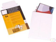 Witte Cleverpack verzendenvelop A4, ft 240 x 315 mm , pak van 5 stuks