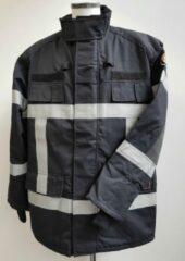 Smit & van Rijsbergen Blusparka Gore-Tex Zwart met reflectie-striping Maat XXL Velcro