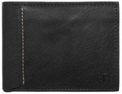 Zwarte DR Amsterdam Waxi Billfold 10CC black Heren portemonnee