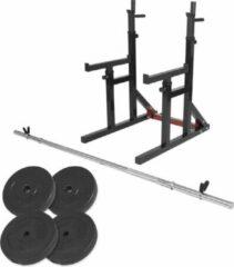 Zwarte Gorilla Sports Multi Squat Rack 40 kg Set van 2 max. belastbaar 260 kg