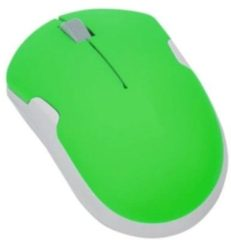 Groene LogiLink computermuizen Notebook Travel Mouse, Wireless, 2.40 GHz, Optical, 1200 dpi, 3 Programmable Buttons, Neon-Green