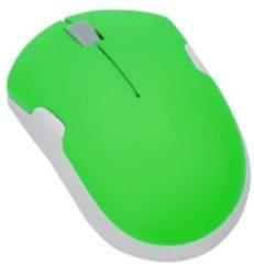Groene LogiLink computermuizen Notebook Travel Mouse, Wireless, 2.40 GHz, Optical, 1200 dpi, 3 Programmable Buttons, Neon-Green