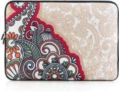 Merkloos / Sans marque Laptop sleeve tot 13 inch met Paisley print – Beige/Multicolour