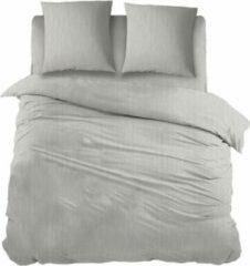 Licht-grijze Snoozing Brigitte - Dekbedovertrek - Lits-jumeaux - 270x200/220 cm + 2 kussenslopen 60x70 cm - Light grey