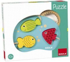 Goula Mijn eerste puzzel visjes houten vormenpuzzel 3 stukjes