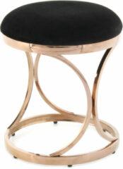 Kayoom Krukje 'Weyda' RVS en Velvet, kleur roségoud / zwart