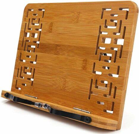 Afbeelding van Bruine Finest Panda Boekenstandaard – Boekenhouder – Boekenrek – Book Holder – Kookboek Houder – Bamboe Boekenhouder