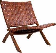 Norrut Monk fauteuil bruin leder.