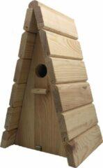 Naturelkleurige Garden Spirit - Vogelhuisje voor Pimpelmees - Nestkast Tipi 28 x 17 x 17 cm. - Naturel - Schilderen